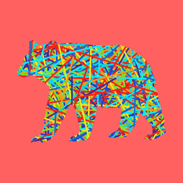 A bear as colorful as you are