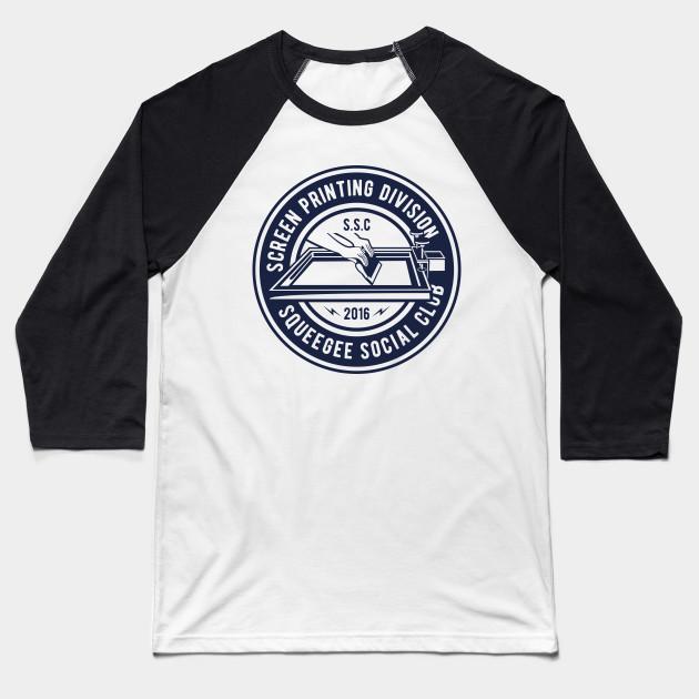 b469f1f93ff7 Screen Printing Division: Squeegee Social Club Design Baseball T-Shirt