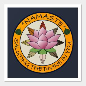 Buddhist greeting posters and art prints teepublic main tag namaste yoga wall art m4hsunfo