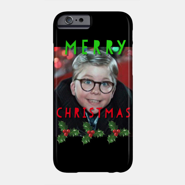 Merry Christmas funny Ralphie Christmas Story graphic design Phone Case