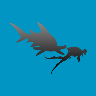 Hammerhead and Diver t-shirts