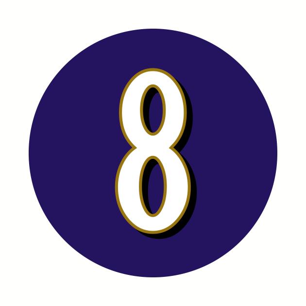 Lamar Jackson Baltimore Ravens Number 8 Jersey Inspired