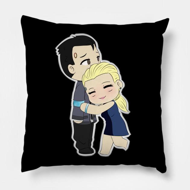 dbh connor chloe detroit become human pillow teepublic