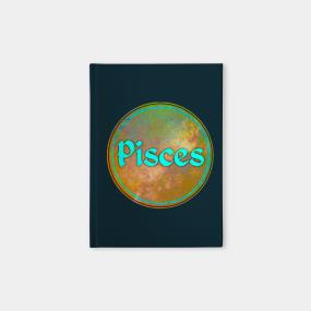 Pisces Zodiac Sign Notebooks   TeePublic