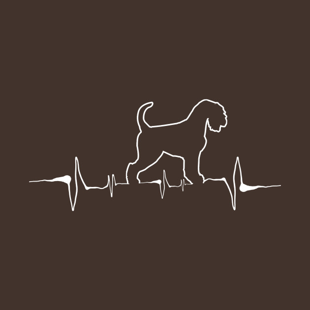 Heartbeat Line Funny Schnauzer Canine Dog Animal Pet Breed Humor Hoodie