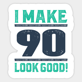 90 Years Old Sticker