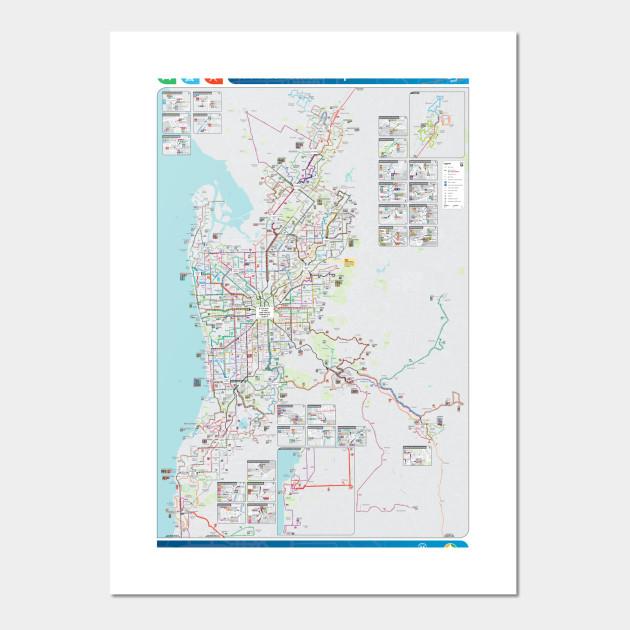 Map Of Australia Hd.Adelaide Australia Bus Rail Tram Map Hd