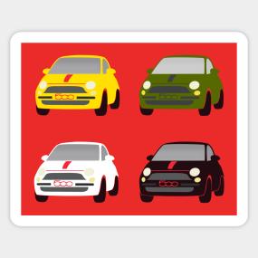 Fiat 500 Stickers Teepublic