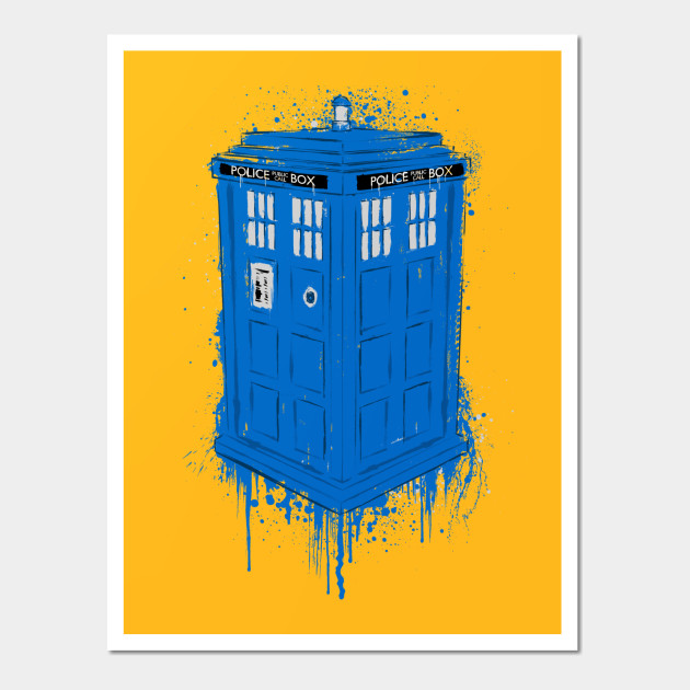POLICE BOX - Police Box - Wall Art | TeePublic