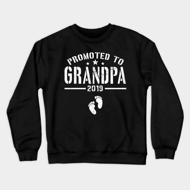 Promoted to Grandpa 2019 Mens Hoodie Hooded Sweatshirt