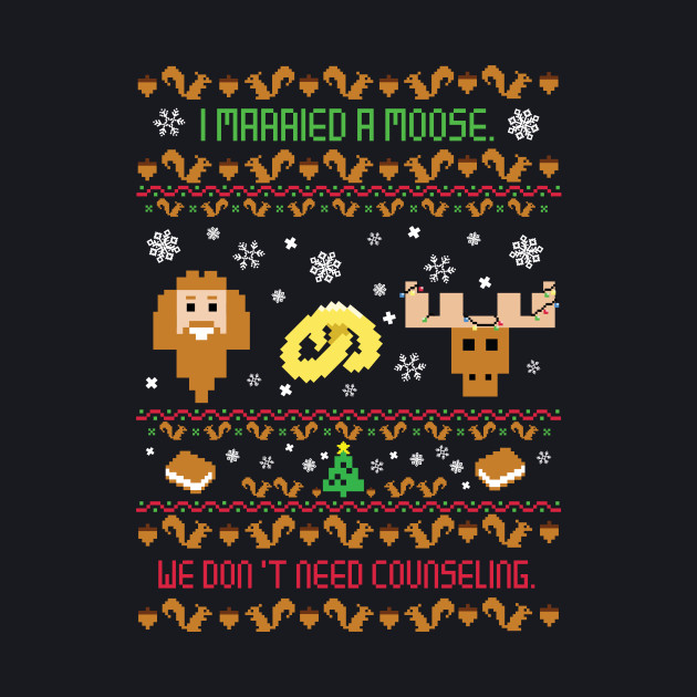 I Married A Moose Christmas Sweater