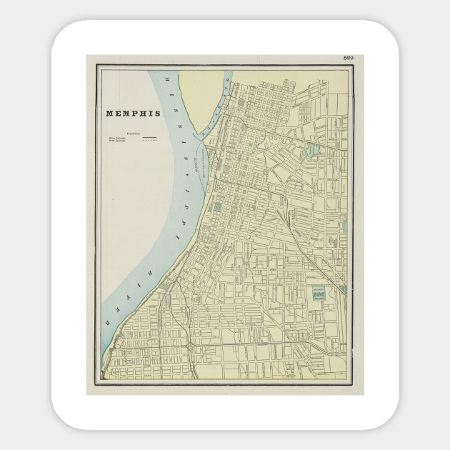 Vintage Map of Memphis Tennessee (1901)