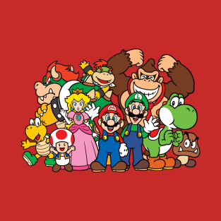 Super Mario Gang t-shirts