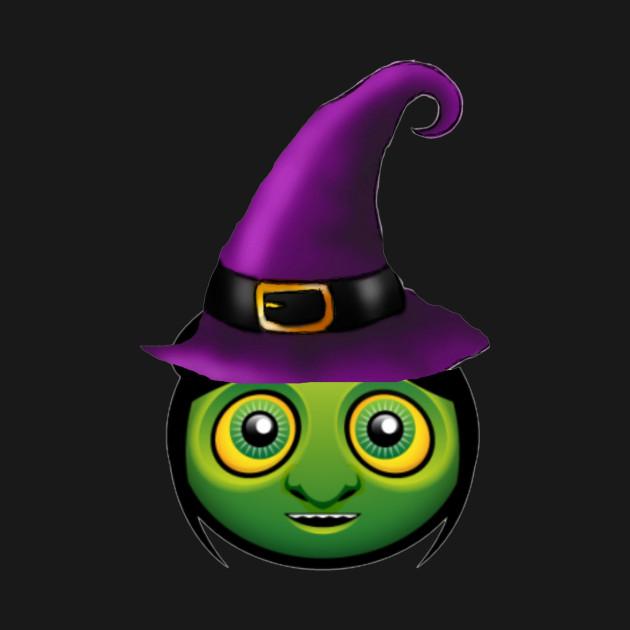 Green Wicked Witch Emoji Halloween Emoticon - Witch Emoticon - T ...