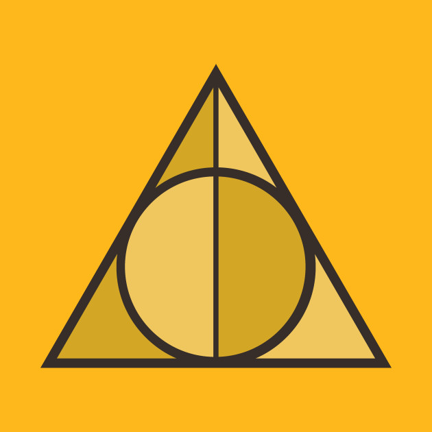 The Deathly Hallows Symbol In Hufflepuff Colors From Harry Potter