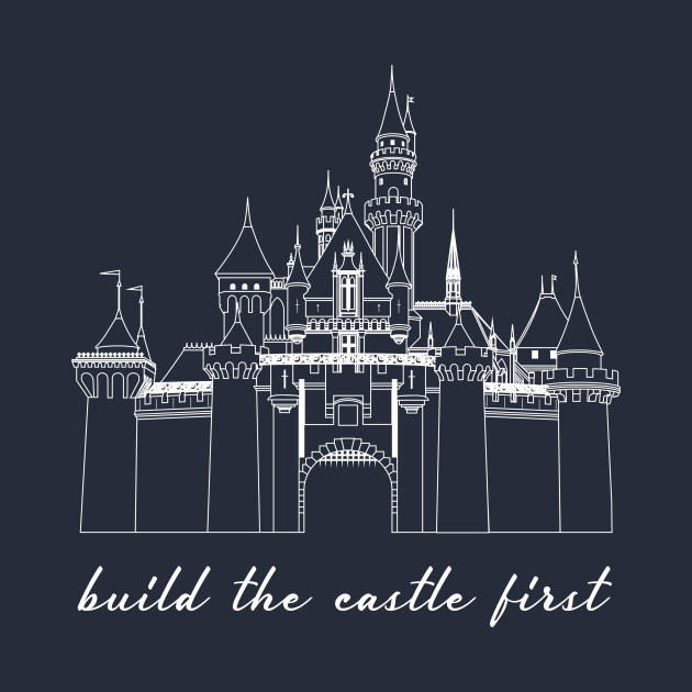 Build the Castle First white outline