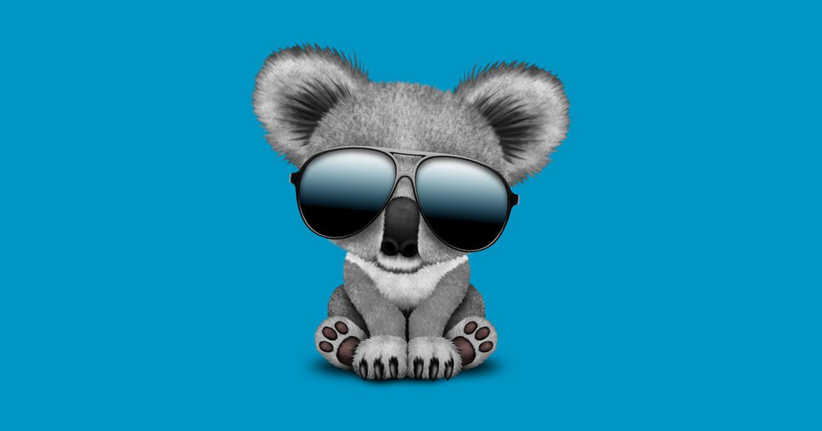 Cute Baby Koala Bear Wearing Sunglasses Baby Koala