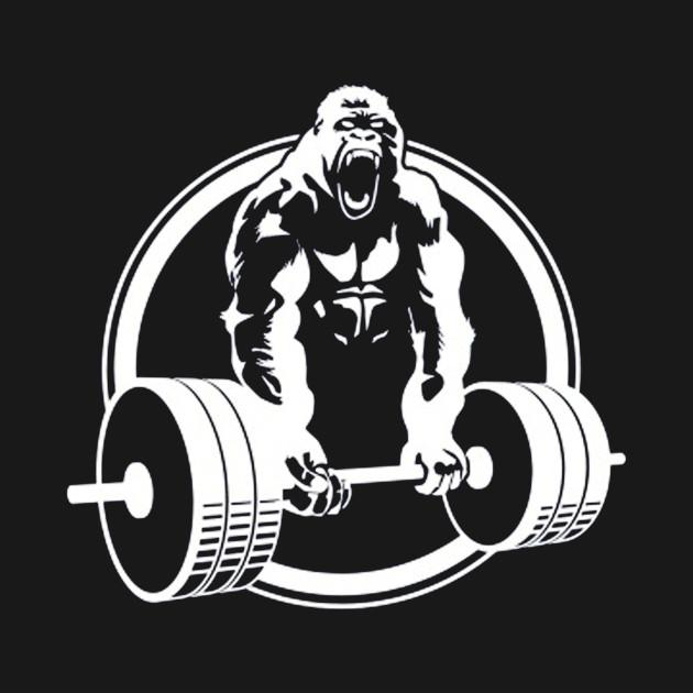 Gym Muscle Bodybuilding Black Mesh Fitness Power Lifting: Gym Gorilla - Gym Gorilla - Kids T-Shirt