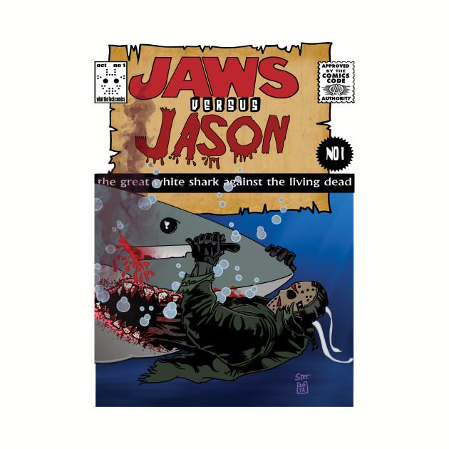 jaws vs Jason comic cover
