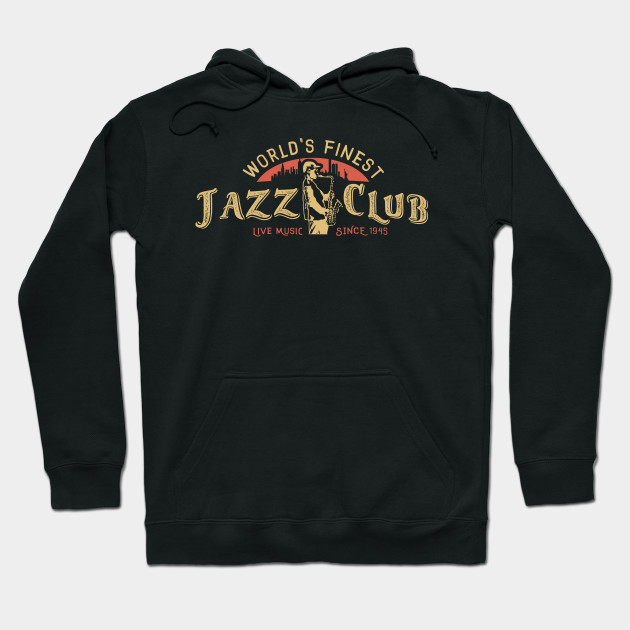 Vintage Jazz Club with Sax Player Hoodie