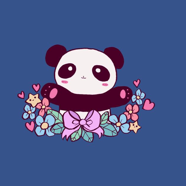 Cute Flowery Panda