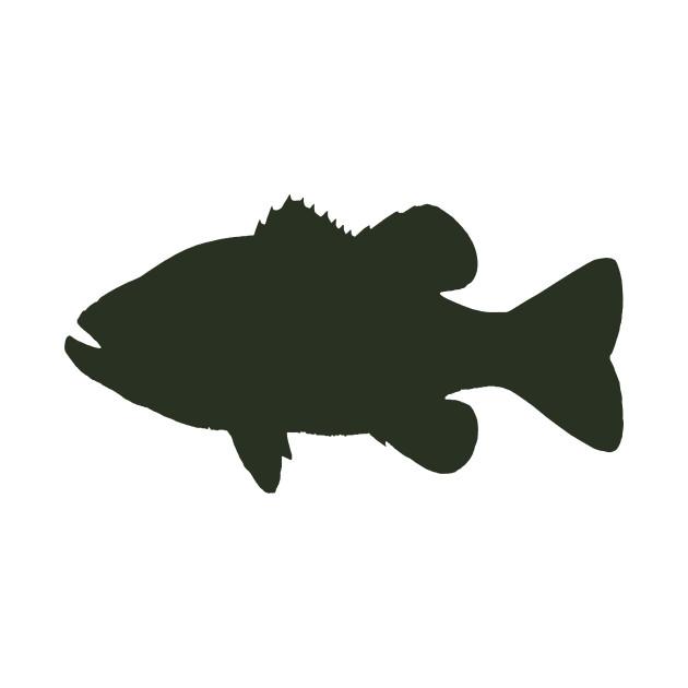 Largemouth Bass Silhouette - Fish - Tapestry | TeePublic