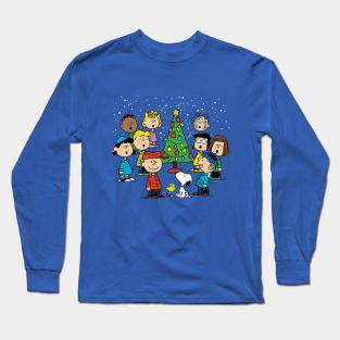 Peanuts Weihnachten Charlie Brown Langarmshirt
