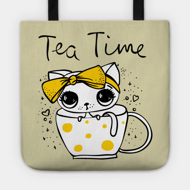 Tea Cup Size Cup Yellow Ribbon