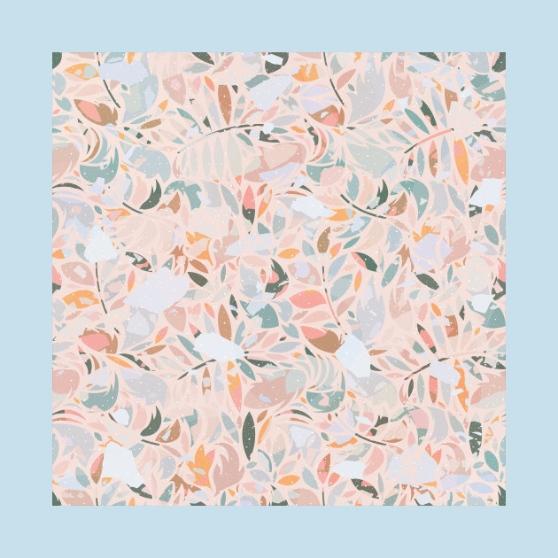 Vintage Abstract Plants / Pastel Leaves