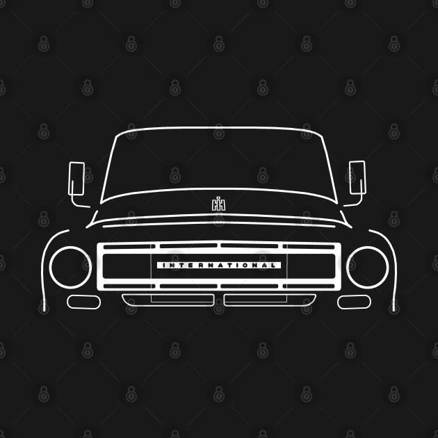 International Harvester IH Travelette / Travelall 1960s classic truck white outline graphic