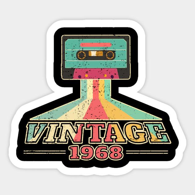 50th Birthday Gift Vintage 1968 Year Old Mixtape T Shirt Sticker