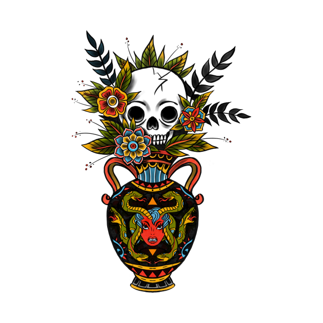 Mrs. Bouquet - traditional tattoo design - color