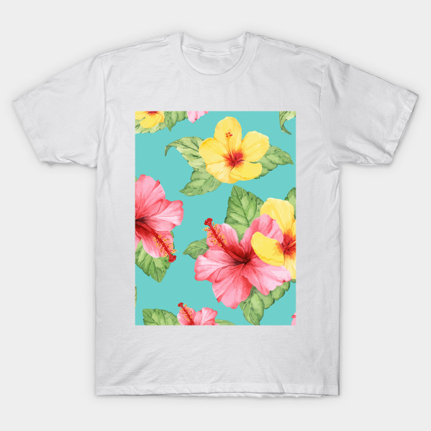 Colorful Summer Hibiscus Flowers Hibiscus Flowers T Shirt