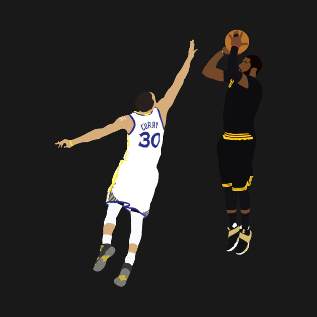 Kyrie Irving Shot Over Stephen Curry