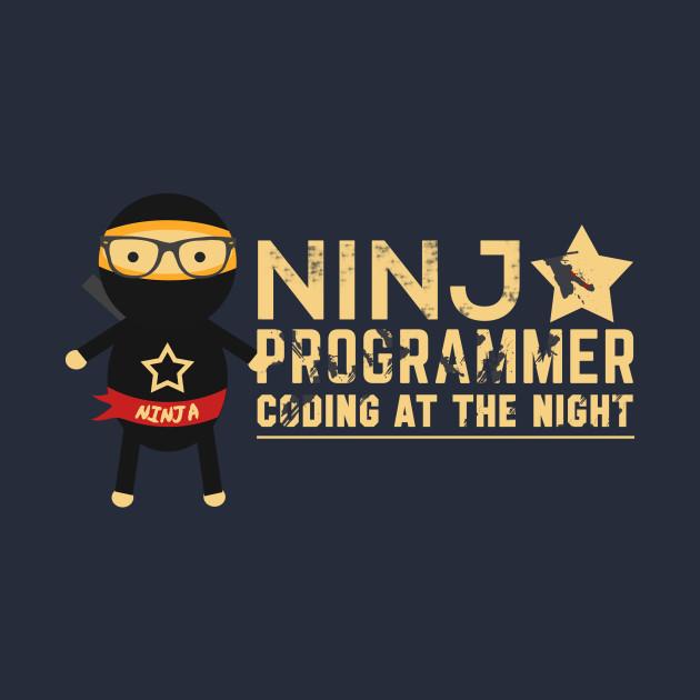 Programmer t-shirt : Ninja Programmer