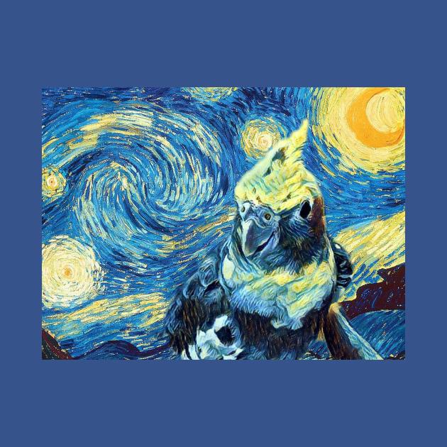 Starry Night Cockatiel Art
