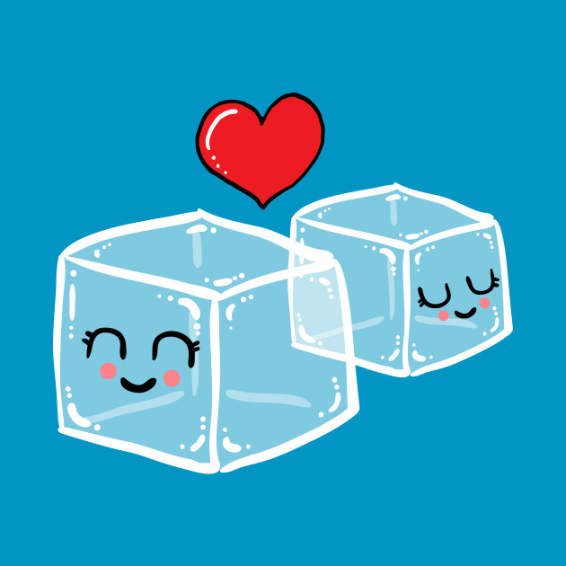 Ice cubes in love