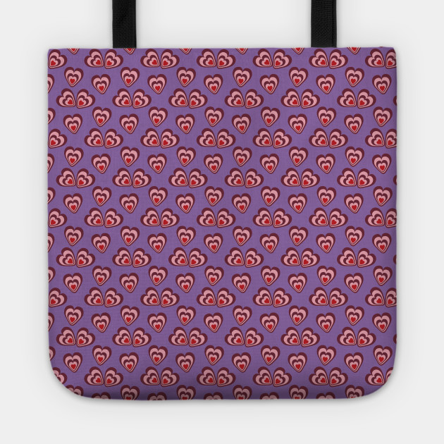 Love Heart Vector Design Purple Background