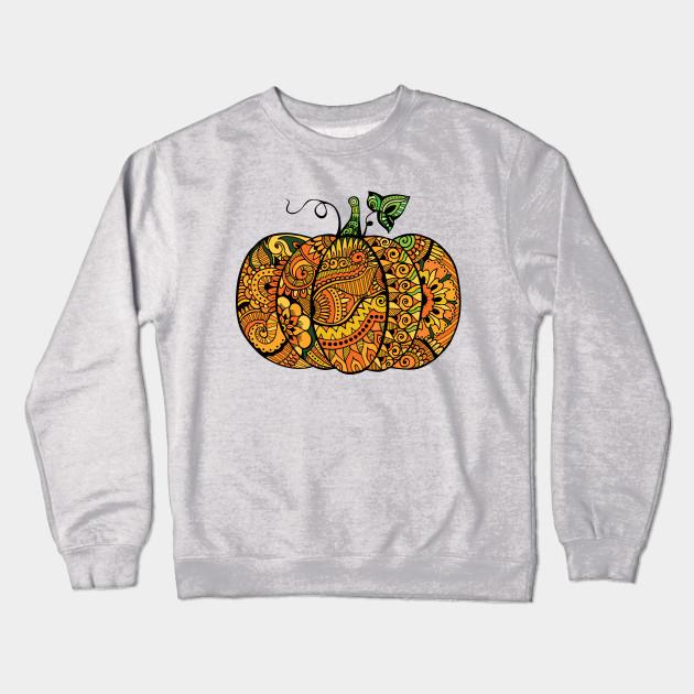 dd82fdd7 Zentangle pumpkin - Pumpkin - Crewneck Sweatshirt | TeePublic