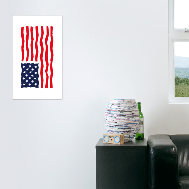Stars And Stripes / USA / Flag (Rotated)