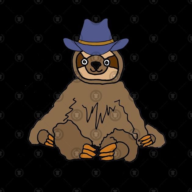 71dbe6b042c Funny Sloth Wearing Cowboy Hat Funny Sloth Wearing Cowboy Hat