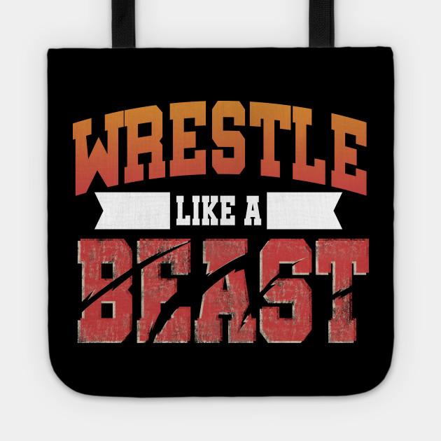 Wrestling Tote Bag Wrestler Wrestle Combat Sport Funny MMA Cool Birthday Gift