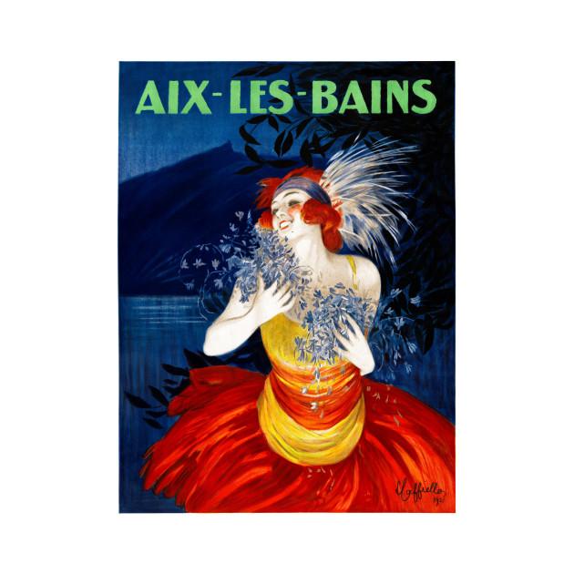 Vintage Travel Poster France Aix les Bains