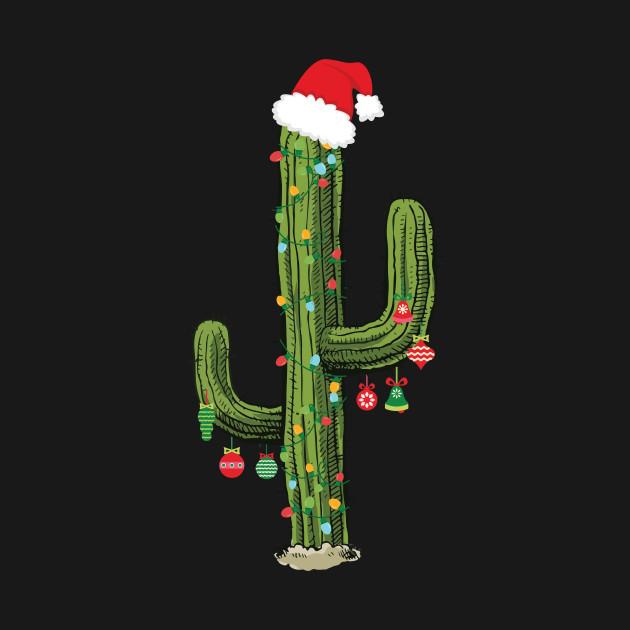 ... Cactus Christmas Tree Lights Wearing Santa Hat - Cactus Christmas Tree Lights Wearing Santa Hat - Cactus Christmas