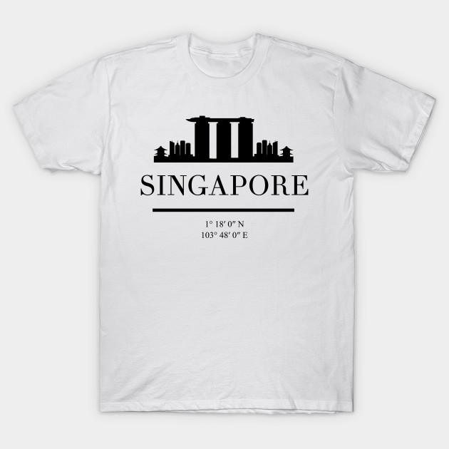 SINGAPORE BLACK SILHOUETTE SKYLINE ART