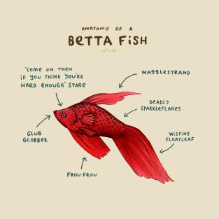 Anatomy of a Betta Fish t-shirts