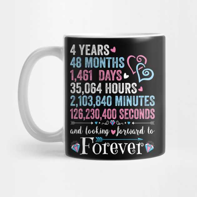 4th Wedding Anniversary Shirt Matching Couple 4 Years Wedding Marriage Gift For Husband And Wife 4th Wedding Anniversary Mug Teepublic