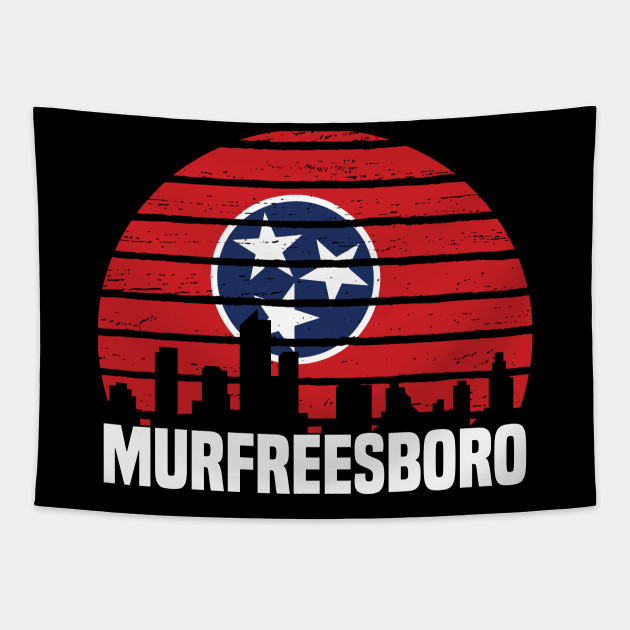 Murfreesboro Tennessee TN Group City Silhouette Flag