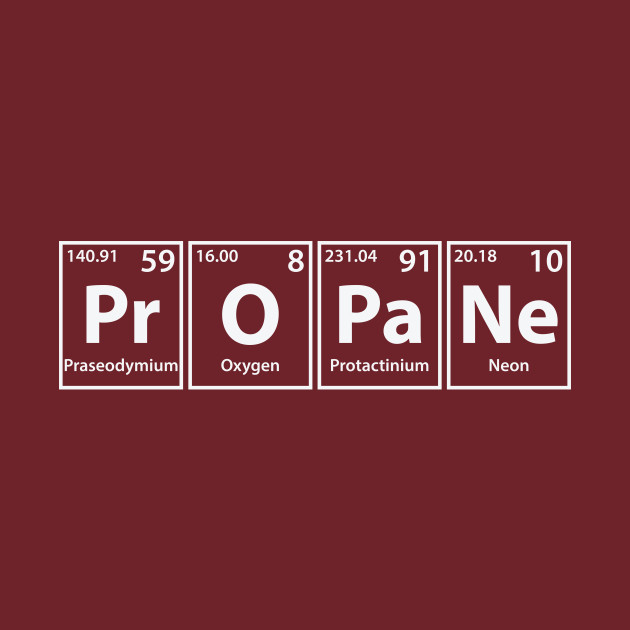 Pr periodic table image collections periodic table of elements list propane pr o pa ne periodic elements spelling propane t shirt urtaz Images