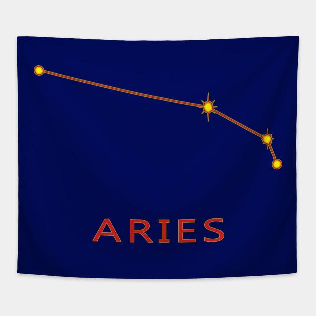 Aries Constellation Zodiac Star Chart Aries Tapestry Teepublic